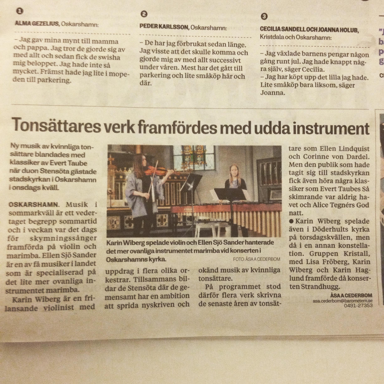 Text/foto: Åsa Cederbom, Oskarshamns-Tidningen
